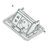 把连接功能件压条与 跳框的两侧螺钉取出。