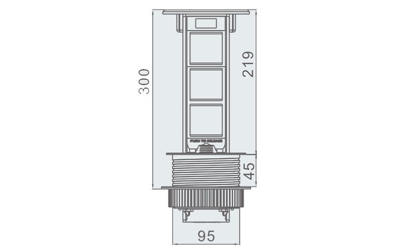 桌面插座规格型号6位模块
