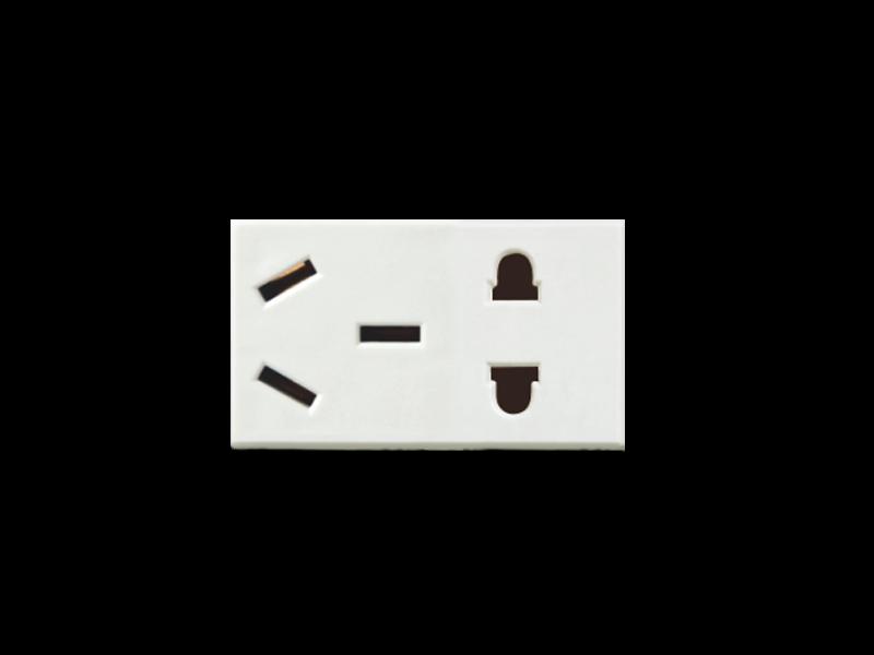 连体五孔插座【B18】