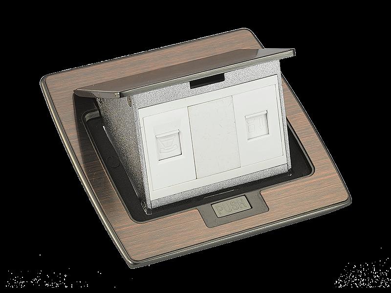 SPU-5X木纹色地面插座